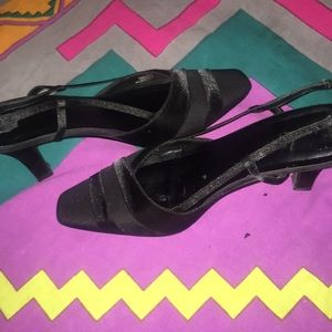 Black Size 9 Closed Toed Heel Formal Dress Shoe